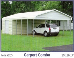 Disk works of south jersey metal garages carports for Carport shop combo