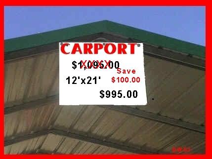 Carport SALE