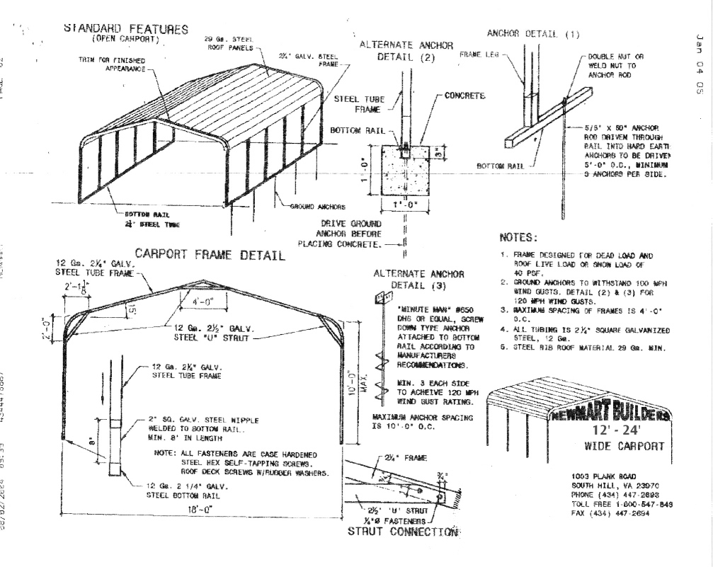 Carport what is the standard size of a carport for Carport width